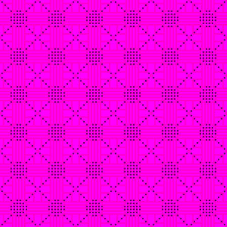 diagonal stripes: Seamless pattern. Pixel geometry. The abstract  image. It can be used for web design, background image, wallpaper wall. Pink color Illustration