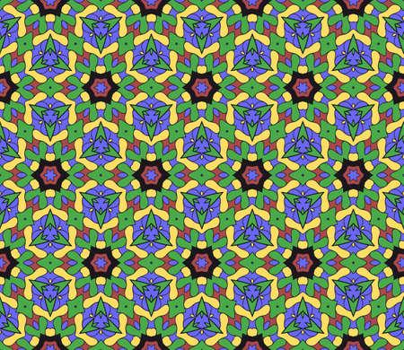 modern floral pattern of geometric ornament. Seamless  illustration. for interior design, printing, wallpaper, decor, fabric, invitation. Stock Illustratie