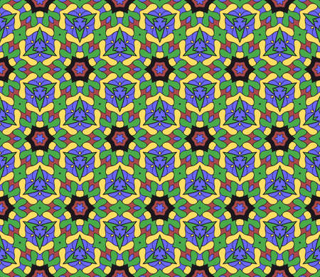 modern floral pattern of geometric ornament. Seamless  illustration. for interior design, printing, wallpaper, decor, fabric, invitation. Illustration