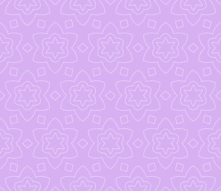 purple color illustration. Easy festive ornament from abstract flower in the style of geometric transformations . For registration backgrounds, greeting cards, design. Seamless pattern.