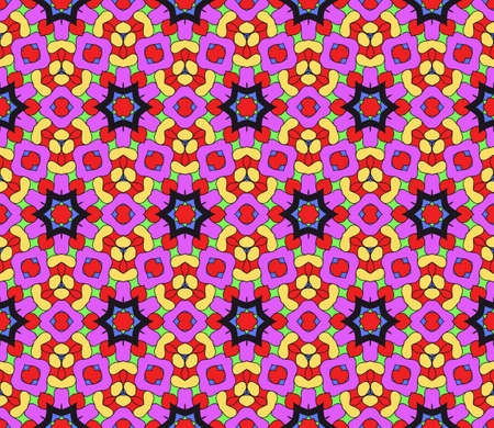Ornamental flower design. Modern seamless geometry pattern. Vector illustration. For the interior design, printing, web and textile design. Stock Photo
