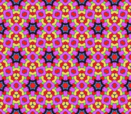 Ornamental flower design. Modern seamless geometry pattern. Vector illustration. For the interior design, printing, web and textile design. Stock Vector - 76191152