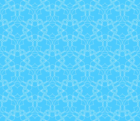 modern floral pattern of geometric ornament. Seamless vector illustration. for interior design, printing, wallpaper, decor, fabric, invitation. blue color