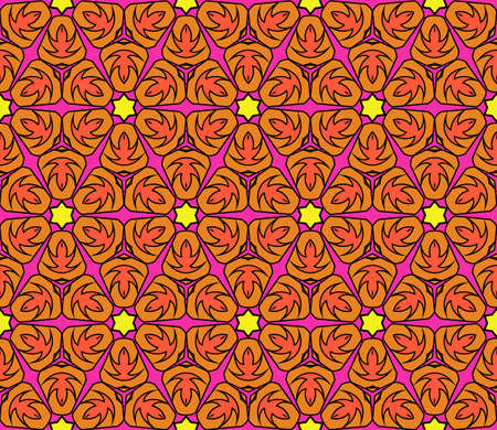 east indian: colorful decorative geometric floral pattern.