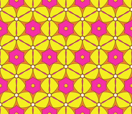Outline floral on sacred geometry pattern on color background. vector illustration. for design invitation, wallpaper, fabric