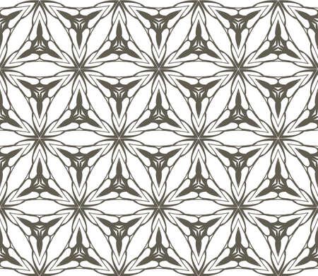 decorative geometric ornament. Seamless vector illustration. Floral style.