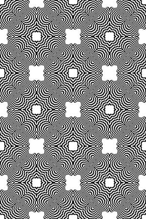 illusion zebra line. seamless geometric pattern. vector illustration. for invitation, wallpaper. black and white Stock Vector - 81964272