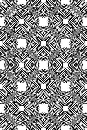 illusion zebra line. seamless geometric pattern. vector illustration. for invitation, wallpaper. black and white