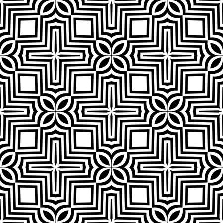 jagged: seamless geometric ornament with optical illusion effect. vector illustration Illustration