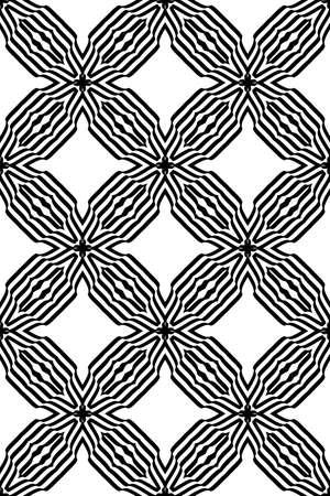 Illusion Zebra Line Seamless Geometric Pattern Vector Illustration For Invitation Wallpaper Black And White