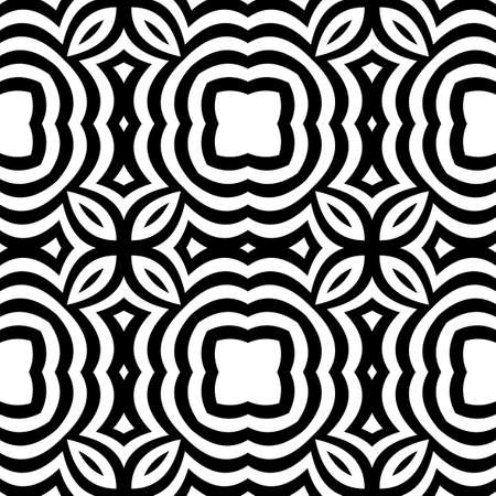 Geometric pattern with optical illusion effect Illustration