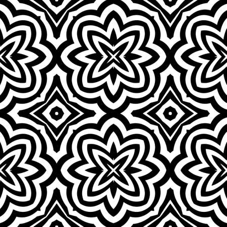 seamless geometric pattern with optical illusion effect. Intersecting lines. vector illustration Stock Vector - 79664682