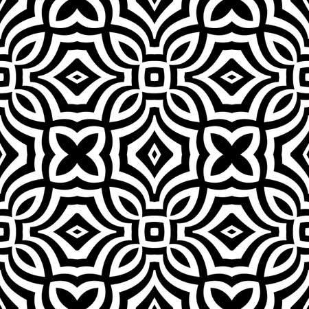 checked: seamless geometric pattern with optical illusion effect. Intersecting lines. vector illustration