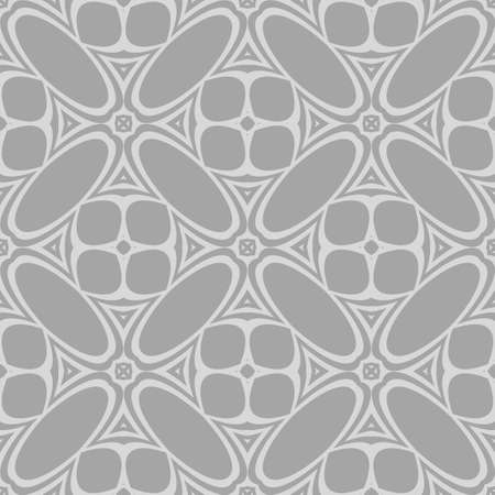 artdeco: Luxury floral ornament. seamless pattern. grey color. vector illustration. for wallpaper, invitation Illustration