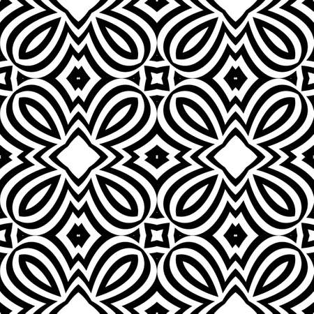seamless geometric pattern with optical illusion effect. Intersecting lines. vector illustration