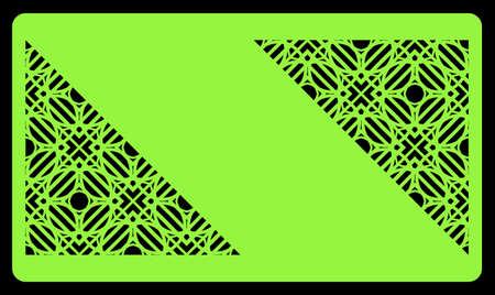 Coupe laser modèle pour carte de visite. Ornement géométrique décoratif. Illustration vectorielle. Pour couper du métal, du papier. Banque d'images - 79742442