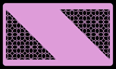Coupe laser modèle pour carte de visite. Ornement géométrique décoratif. Illustration vectorielle. Pour couper du métal, du papier. Banque d'images - 79720432