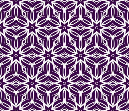 Romantic geometric floral seamless pattern. Vector illustration. For modern interior design, fashion textile print, wallpaper, decor panel. Ilustração Vetorial