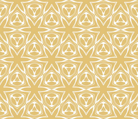 Seamless geometric pattern with floral style ornament on color background. Illustration