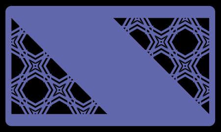 Coupe au laser de modèle pour carte de visite. Ornement géométrique décoratif. Illustration vectorielle Pour couper du métal, du papier. Banque d'images - 79732881