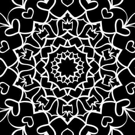 Floral mehendi pattern. Vector illustration. Hand drawn henna india tribal paisley background Illusztráció