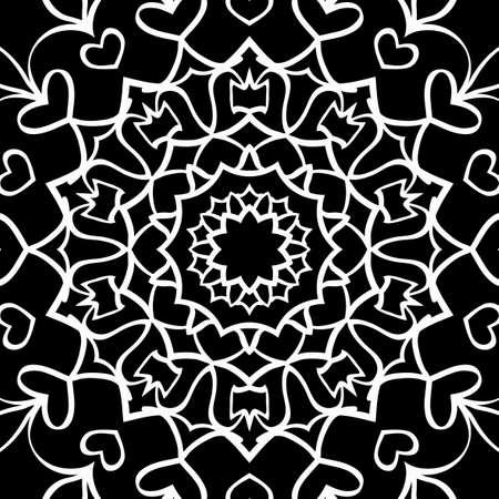 Floral mehendi pattern. Vector illustration. Hand drawn henna india tribal paisley background Illustration