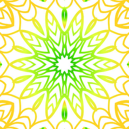 A summer color floral background hand drawn ethnic decorative ornament vector illustration.