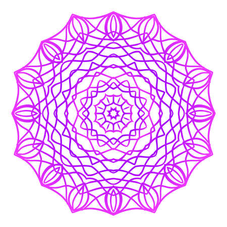 Mandala. Vector illustration. Ethnic Circle Ornament. Purple color.