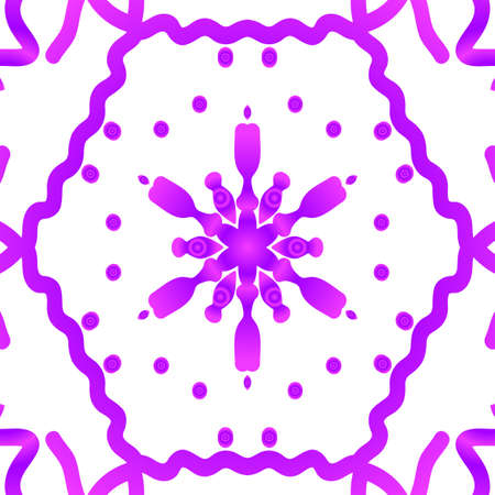 Floral pattern vector illustration on hand drawn henna india tribal paisley background purple color