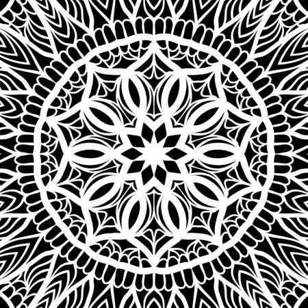 Oriental floral pattern. Vector illustration.