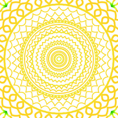 A summer color floral background on hand drawn ethnic decorative ornament vector illustration.