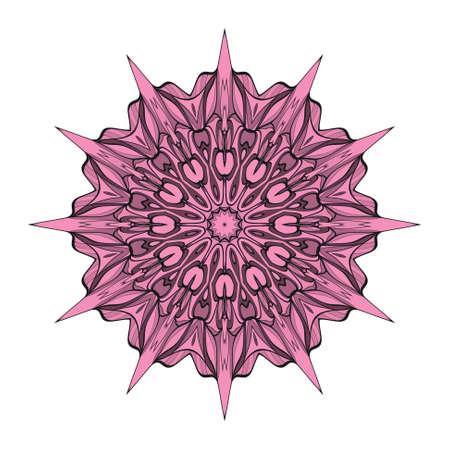 mandala element on white background. Vector illustration. design for greeting card, invitation, tattoo.