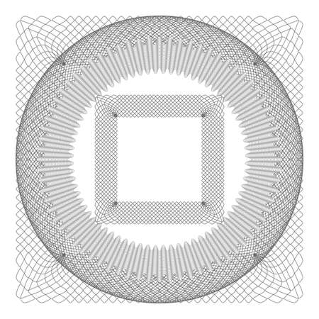 Gray circle rossete. protective watermark layer for certificate, voucher, money design. vector illustration Vettoriali