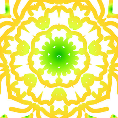 Summer color floral background. Hand drawn ethnic decorative ornament. Vector illustration for coloring book, greeting card and invitation. Anti-stress therapy pattern. Illustration