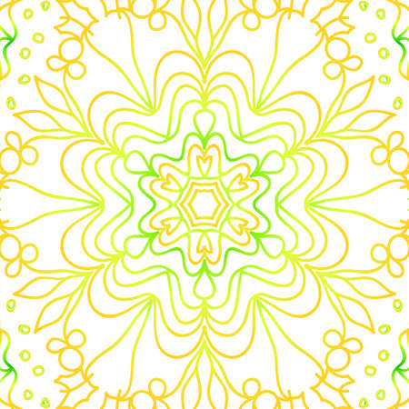Summer color floral background hand drawn ethnic decorative ornament. Vector illustration for coloring book, greeting card and invitation. Anti-stress therapy pattern.