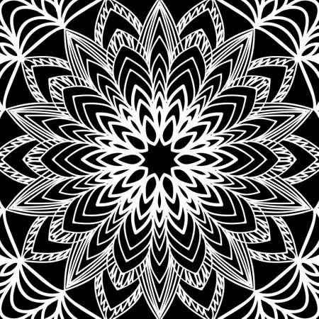 Floral mehendi pattern. Illusztráció