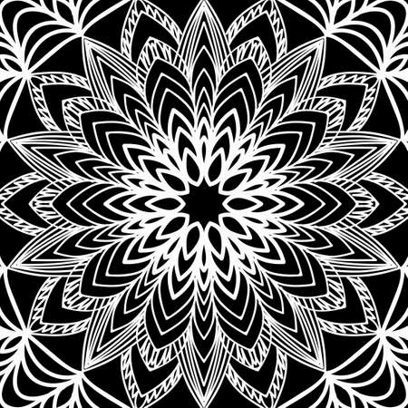 Floral mehendi pattern. Иллюстрация