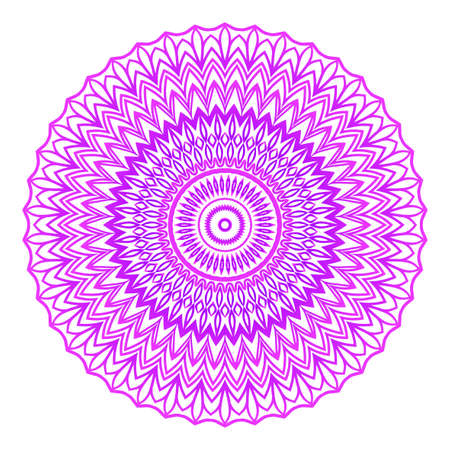 Mandala. Vector illustration. Ethnic Circle Ornament. Purple color. for coloring book, greeting card, invitation, tattoo.