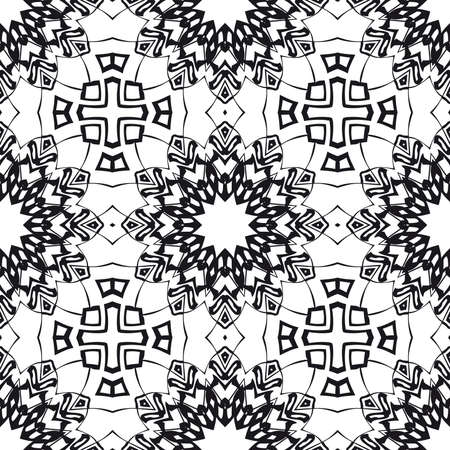 wedding seamless pattern for invitation with geometric floral ornament. vector illustration.