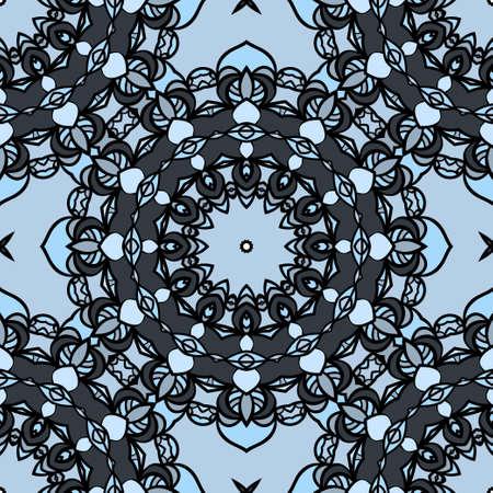Seamless Floral mandala ornament. vector. design element for print, fabric, wallpaper