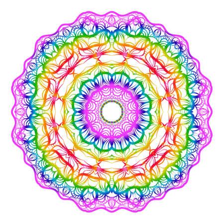 Hand drawn coloring mandala. vector illustration. design for greeting card, invitation, tattoo, yoga and spa symbol