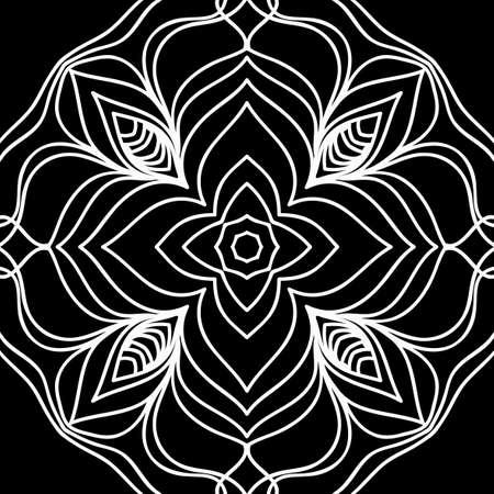 Floral mehendi pattern vector illustration in hand drawn henna background.