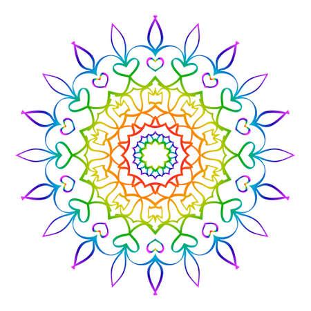 Vector Rosettes pattern. rainbow color. Vector illustration. Decorative Elements