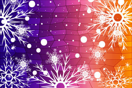 Christmas Background with snowflakes. Abstract Vector Illustration  イラスト・ベクター素材