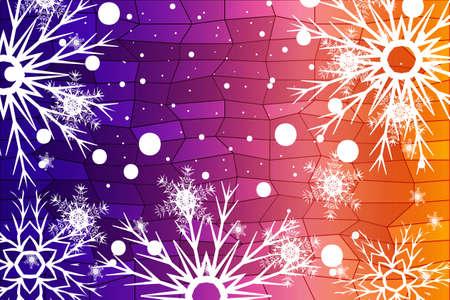 Weihnachtshintergrund mit Schneeflocken. Abstrakte vektorabbildung