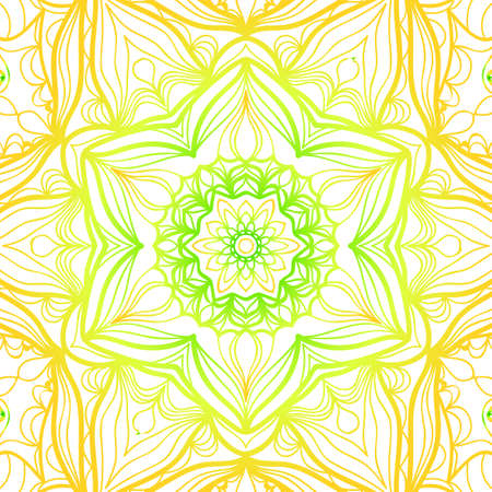 summer color floral background. hand drawn ethnic decorative ornament. vector illustration. for coloring book, greeting card, invitation. Anti-stress therapy pattern.