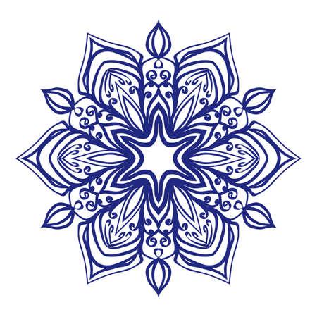 Floral Mandala for tattoo design Vector illustration.