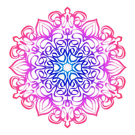 floral mandala. creative anti-stress ornament. Stock Illustratie