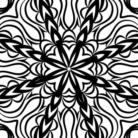 oriental floral pattern. vector illustration. hand drawn henna mehendi background