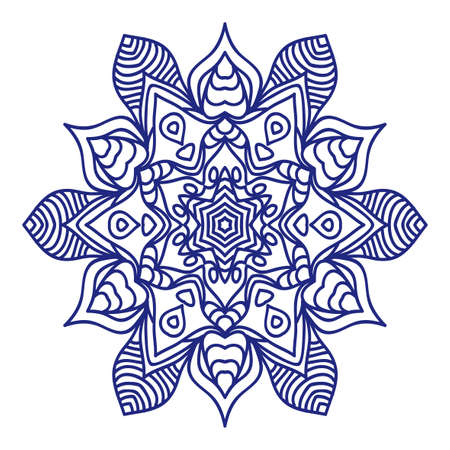Mandala tattoo for design, greeting card, invitation, coloring book. Arabic, Indian, motifs. Vector illustration.